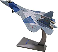 Showkig Stealth Fighter T50 Model Military Model Decoration Static Simulation SU-57 Alloy Military Aircraft Model 1:72 Soviet Russian Heavy Fighter Su-57 Adult Children's Gifts