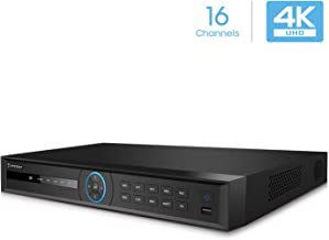 Amcrest 5Series 4K NVR 16-Channel NV5216 16CH (Record 16CH 4K @30fps, View/Playback 4CH 4K @30fps) Network Video Recorder - Supports up to 2 x 10TB Hard Drive (Not Included) (No PoE Ports Included)