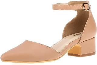 Women's Comfortable Low Heel Mid Heel Sandals 2 Inch Heels Sexy Cross Strappy Pumps