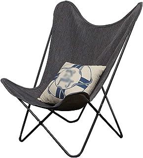 折りたたみ椅子、リクライニングチェア|ガーデンチェア|グレー|ポータブル、キャンプチェア|正午のチェア|無重力チェア|支持力:100kg |バタフライチェア
