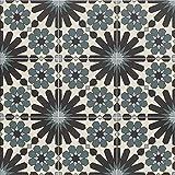 Azulejos de cerámica marroquí Meknes 20 x 20 cm 1 m² azulejos de suelo y azulejos de pared en el baño y la cocina. Hermosa pared trasera de cocina cuarto de baño FL8022