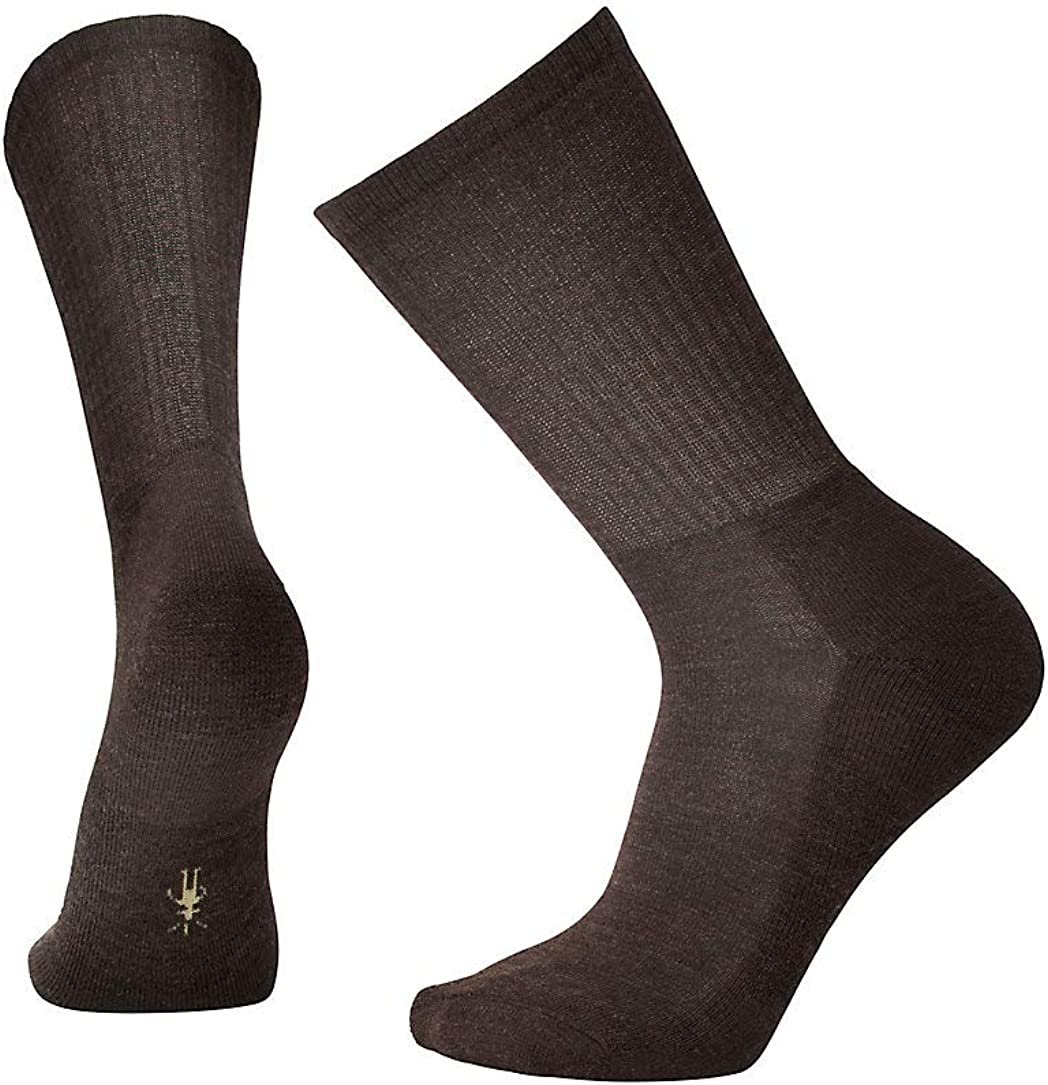 Smartwool Heathered Rib Crew Socks - Men's Medium Cushioned Merino Wool Performance Socks