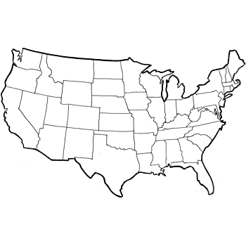 Amazon Com Home Comforts Map United States Outline Map Can You
