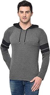 VIMAL JONNEY Cotton Black Full Sleeve Hoodie Tshirt for Men-T_12_ANT01-P