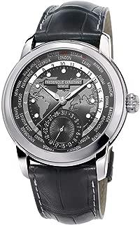 Men's Frederique Constant Worldtimer Automatic Dark Grey Dial Watch FC-718DGWM4H6