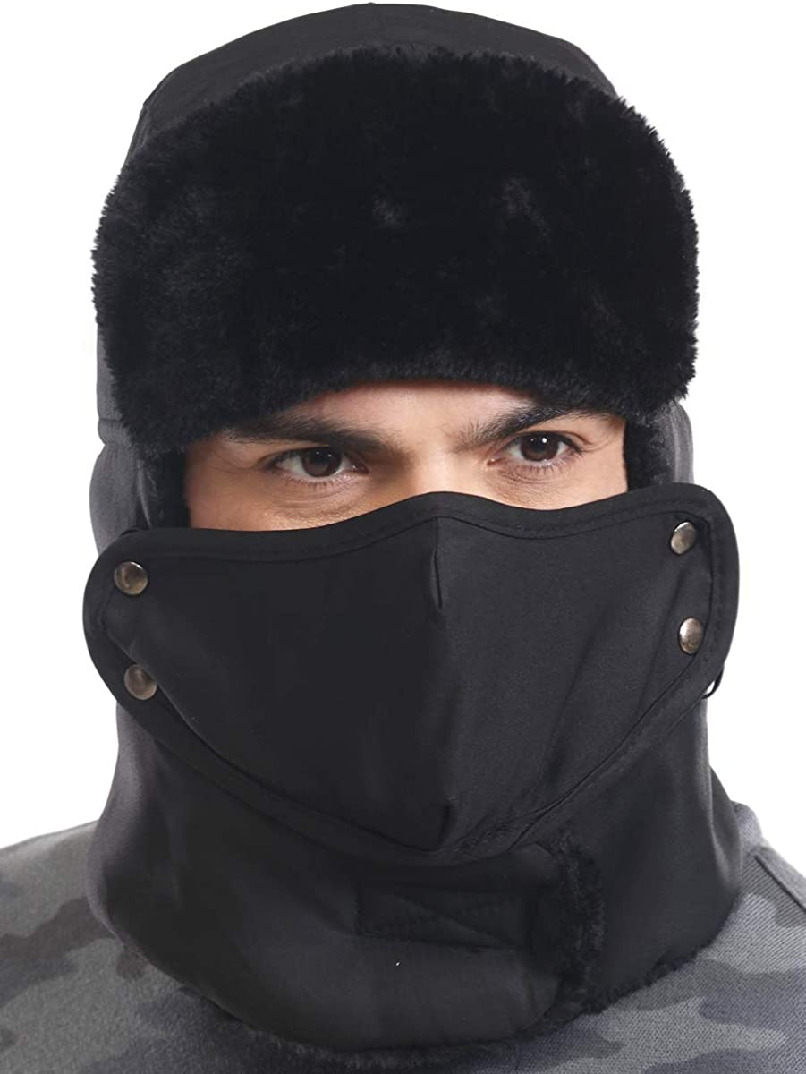 Winter Trapper Hat w Max 57% OFF Mask - Hats Max 70% OFF Russian Ushanka Trooper Aviator