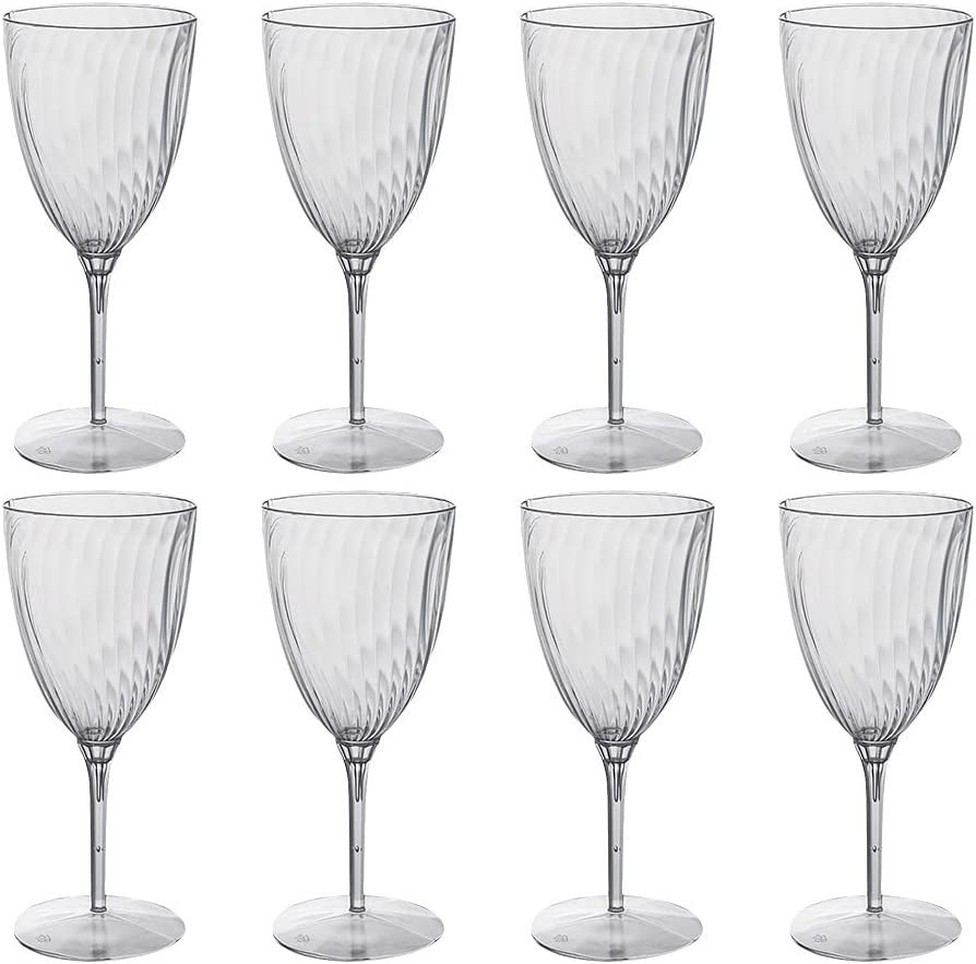 JINDAO 8pcs 240ml Disposable Cups Goblet Drinking Win One-Ff Red Seattle Mall New product!!