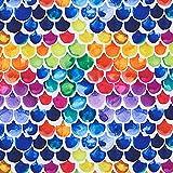 Softshell Regenbogen Schuppen – weiss/Farbmix —