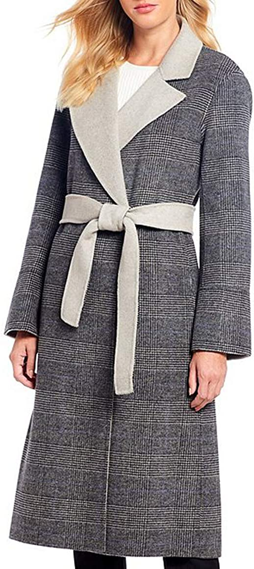Antonio Overseas parallel import regular item Melani Vera Super-cheap Multi Wool Heather Grey Size-6 Blend Coat
