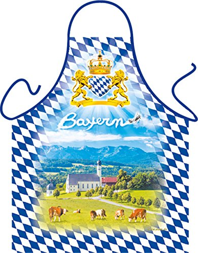 Grill-Schürze Bayern Voralpen-Land Fun Koch-Schürze Küchen-Schürze geil Bedruckt Geschenk-Set mit Grillermeister Urkunde