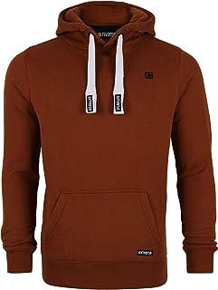 riverso Linus - Sudadera con Capucha para Hombre, con Bolsillo Tipo Canguro, 80% algodón, Color Gris, marrón, Verde, Rojo,...