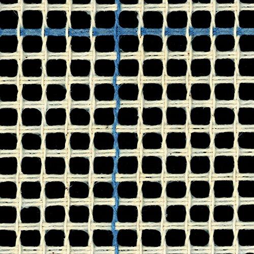 Canevas pour tapis/tapisserie - 3trous/2,5cm - Lignes bleues, bleu, 100cm x 100cm