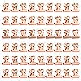 Kleine Bulldogge Büroklammern 50 Stücke Multi-function clip kleine Clips Binder Clips Datei Papiergeld Klemmen für Büro Geschäfte Tags Taschen und Küche zu Hause(Rose Gold, 22mm)