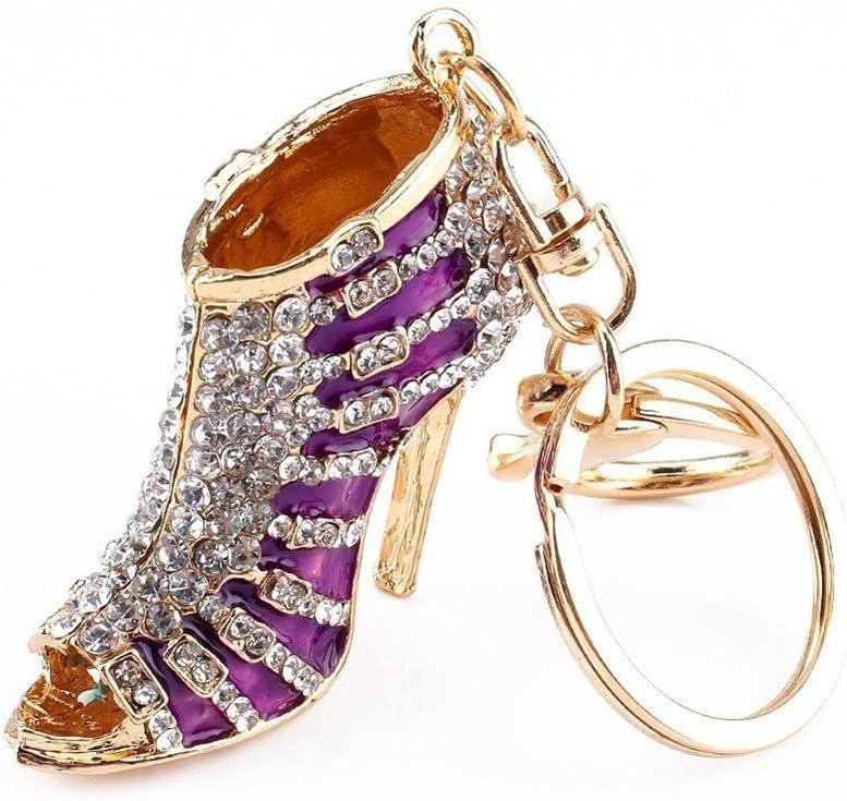 High Heel Shoes Crystal Keychain