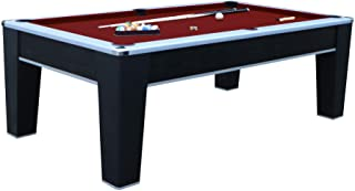 Hathaway Mirage 7.5` Pool Table, Black/Red