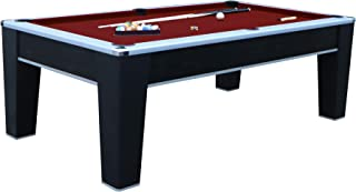 Hathaway Mirage 7.5' Pool Table, Black/Red