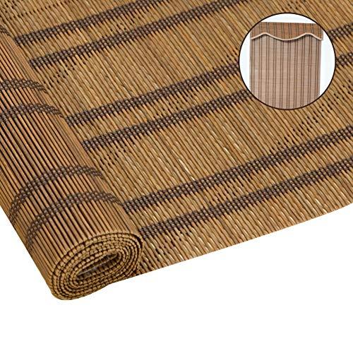 GDMING Bamboe blind houten blind Retro Romeinse schaduw binnen- zonnecrème warmte isoleren zonnescherm bamboe rolluiken voor de woonkamer raam 2 soorten, aanpasbare grootte