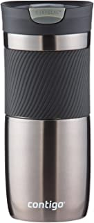Contigo Snapseal Byron Vacuum-Insulated Stainless Steel Travel Mug, 16 Oz, Gunmetal