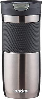 Contigo SnapSeal Byron Vacuum-Insulated Stainless Steel Travel Mug, 16 oz, Gunmetal