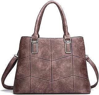 Trendy Lady Large-capacity Handbag Fashion Retro Shoulder Bag Versatile Handbag Zgywmz (Color : Pink, Size : 34 * 13 * 24cm)