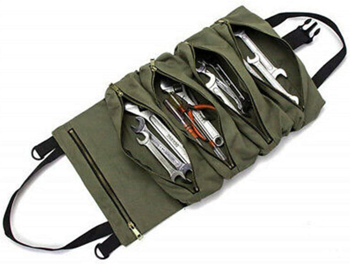 TIFALEX Car Super Tool Zipper Bag Multi-Purpose Canvas Roll Up B