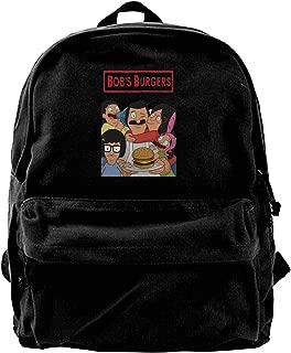 Canvas Backpack Bob's Burgers Personal Street Fashion Creation Black