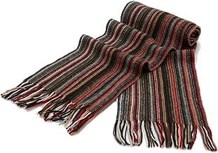 Mens Striped Cashmere Scarf