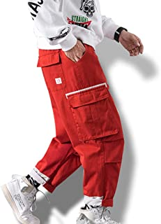 メンズ カーゴパンツ 九分丈 作業着 ズボン ワイドパンツ ゆったり カジュアル 秋冬 ロングパンツ