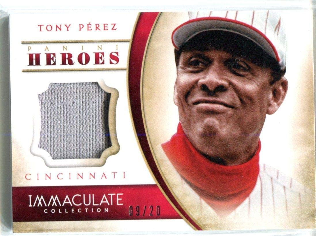 Tony Perez 2014 Bargain Immaculate Collection Special price for a limited time Material Unsigne Game-Worn
