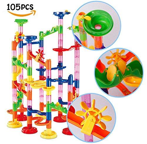 dOvOb Marble Run くるくるボール スロープおもちゃ ビーズローラーコースター子供の組み立てられた教育玩具