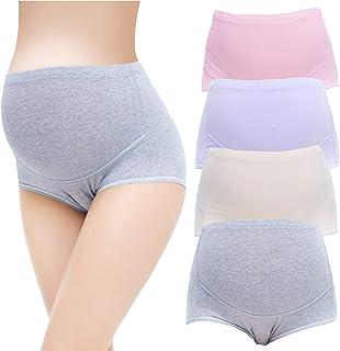 Maternity Underwear High Waist Cotton Pregnant Panties Mother Elastic Adjustable Lingerie Briefs Underpants 4 PCS