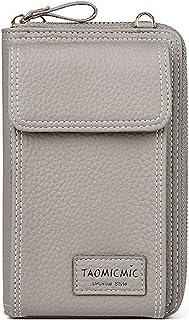 Elonglin Small Crossbody Bag Mini Cell Phone Purse Wallet Shoulder Bag for Women Girls Grey