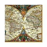Caspari World Map Paper Luncheon Napkins - 20 Per Package