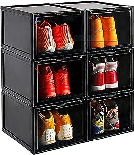 Meuble à Chaussures, BoîTe à Chaussures Avec Porte empilable, Assemblage Facile, épais avec couvercle 28*37*22CM, adapté a...