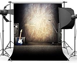 BuEnn 5X7FT Banda Concierto Telón Fondo Fondo Hip Hop Escenario Interior Guitarra Grunge Fondo Pantalla borroso Graduación Fotografía Fondo para niños Chicas Mostrar Fiesta Foto Estudio Prop.