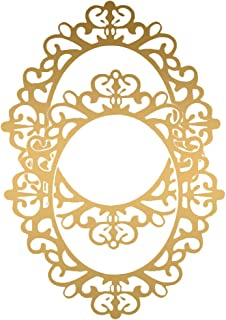 Cakes in the city- Mirror Oval MDF Cutout Ready to hang Wall Art | Home Decoration Mirror Photo Frame MDF Plaque Printed C...