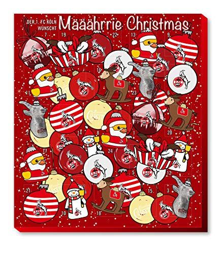 Adventskalender, Weihnachtskalender deines Bundesliga Lieblingsvereins - und Sticker Wir Leben Fußball Fairtrade (1. FC Köln)
