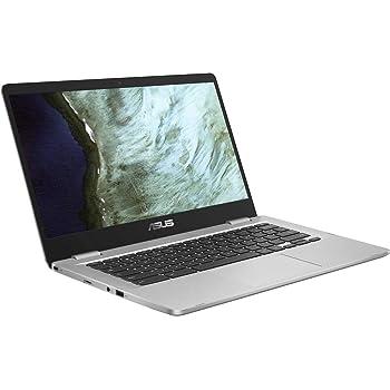 "Asus C423NA Chromebook 14"" HD Laptop (Intel Dual Core Celeron Processor N3350, 4GB DDR4 RAM, 64GB SSD) Webcam, WiFi, Bluetooth, Type-C, Google Chrome OS - Silver (Renewed)"