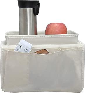 windaze Armrest Organizer, 5 Pockets Waterproof Remote Controller Holder Organizer Bag for Recliner Chair Couch Bed Beige