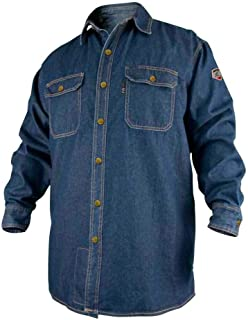 Stallion Black FS8-DNM FR Cotton Denim Long Sleeve Work Shirt X-Large