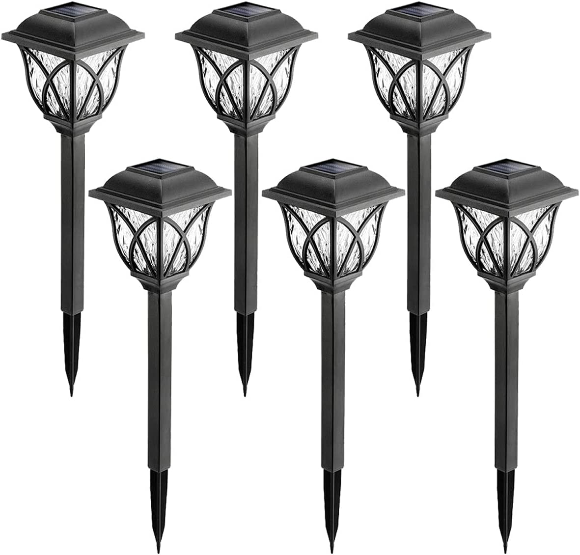 67% OFF of fixed price Solar Garden Light Cheap super special price Outdoor 6 Pack Lig White Path LED Warm