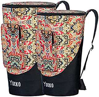 YUEKO African Drum Bag Sturdy Shoulder Straps and Durable Djembe Bag Triple-layer Construction 10/12 inch (12 inch)