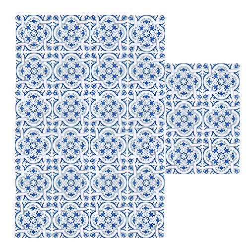 Jeanoko 30 unids/set pegatinas de azulejo, patrones novedosos impermeables de la cocina, etiqueta engomada de la pared respetuosa con el medio ambiente para el cuarto de baño para la