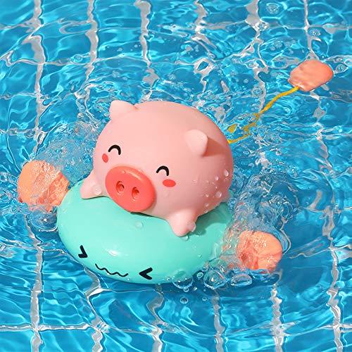 MatSailer Badespielzeug für Babys,Badewannenspielzeug,Wasserspielzeug,Babyspielzeug Ab 6 Monate,Lustige Baby Spielzeug Spielt in Der Baby Badewanne,Ziehstreifen Spielzeug, Keine Batterie Benötigt