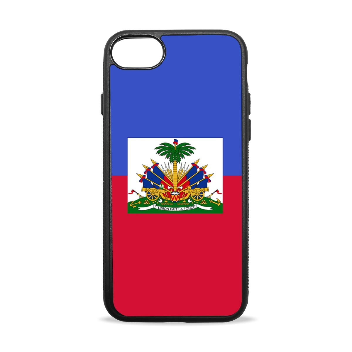 Apple Case Shockproof Slim TPU Protective Cover Haitian Flag Soft Rubber Silicone Cover Phone Case Compatible with iPhone 7/8 iPhone 7/8 Plus [4.7 inch/5.5 inch]