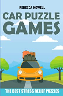Car Puzzle Games: Country Road Puzzles - The Best Stress Relief Puzzles (Brain Game Books)