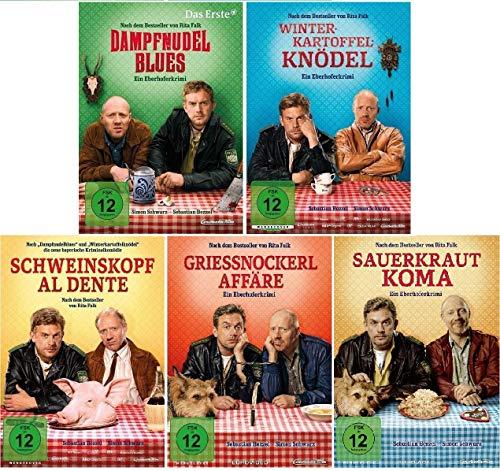 Eberhofer - 5 DVD Set (Dampfnudelblues + Winterkartoffelknödel + Schweinskopf al dente + Grießnockerlaffäre + Sauerkrautkoma) i