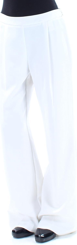 Bar III $70 Womens New 1329 Ivory Pleated Wear to Work Wide Leg Pants 0 B+B