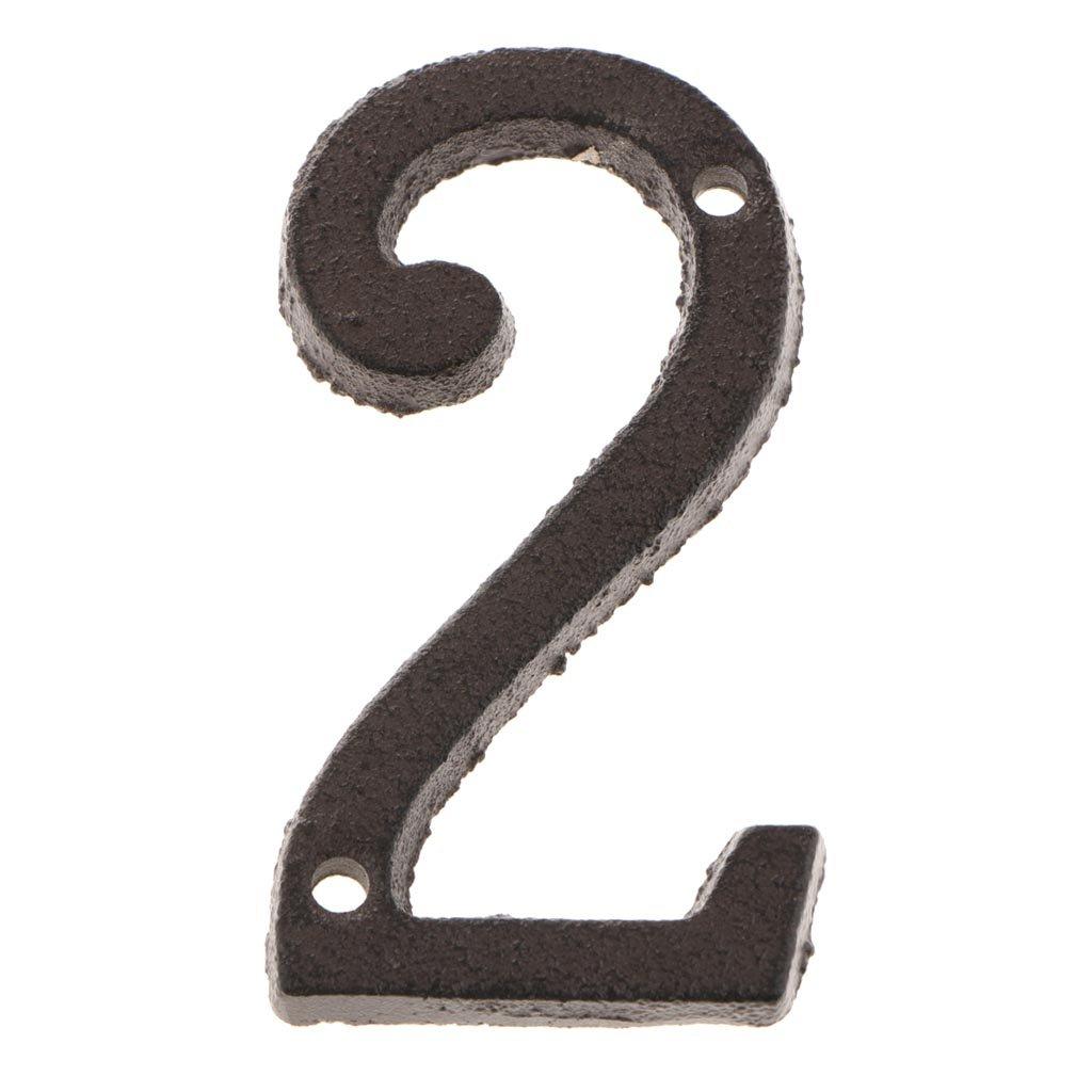 Numero 0 Fenteer 0-9 Numeri Civici Hotel Home Door Sign Targa Numero Cifre Targa Targa Targa Indirizzo Plaque