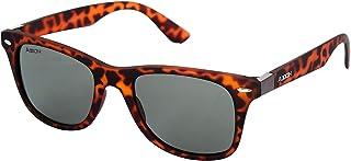 ADDON EYE WEAR Polarized Unisex Sunglasses (50|Black and Brown)Lens Width: 50.0